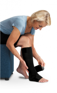 Een uniek aanpasbaar zwachtelsysteem dat op een effectieve manier helpt om de vochtophoping (oedeem) in zowel handen, armen, voeten en benen terug te dringen.